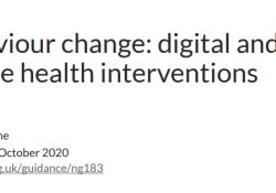 """2020 NICE指南:行为改变的数字和移动健康<font color=""""red"""">干预</font>(NG.183)"""