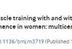 BMJ:底肌肉訓練聯合肌電生物反饋治療壓力或混合性尿失禁