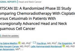 JCO:西妥昔单抗联合放疗治疗晚期头颈部鳞状细胞癌疗效次于顺铂