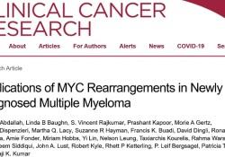 "Clin Cancer Res:MYC重排对多发性<font color=""red"">骨髓</font><font color=""red"">瘤</font>患者预后的影响"