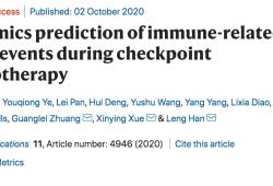 Nat Commun:檢查點免疫治療過程中不良事件的多組學預測