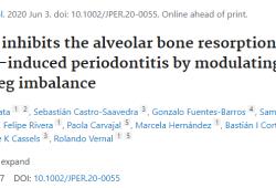 J Periodontol:口服波耳丁可抑制牙槽骨吸收,用于牙周炎的治疗