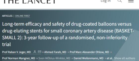 LANCET:藥物涂層球囊和藥物洗脫支架哪家強?