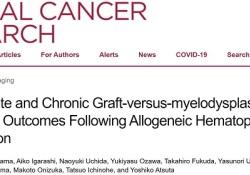 "Clin Cancer Res:<font color=""red"">急慢性</font>移植物抗MDS对异基因造血细胞移植后的长期预后的影响"