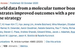 Nat Commun:真实世界研究发现改善肿瘤后果的精准疗法