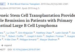 "Biol Blood Marrow Transplant:异基因干<font color=""red"">细胞</font>移植为原发性纵隔大<font color=""red"">B</font><font color=""red"">细胞</font>淋巴瘤患者提供了持久的缓解措施"