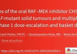 Lancet oncol:RAF-MEK抑制剂在携带RAS/RAF突变的多种肿瘤中的抗肿瘤活性