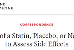 NEJM:他汀的肌痛副作用,是真实的吗?