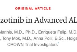 NEJM:用于晚期ALK阳性肺癌:劳拉替尼 or 克唑替尼