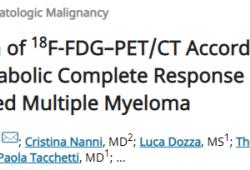 JCO:18F-FDG–PET/CT定义多发性骨髓瘤代谢完全缓解的标准