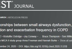 Chest:COPD患者小气道功能障碍、中性粒细胞炎症和频发加重的相关性