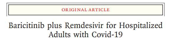 巴瑞替尼聯合瑞德西韋可加速新冠肺炎住院患者恢復