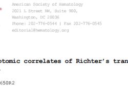 Blood:慢性淋巴细胞白血病Richter转化的基因组和转录组学特征