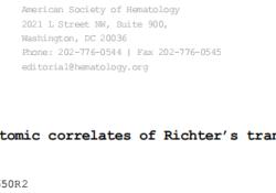 """Blood:慢性<font color=""""red"""">淋巴</font><font color=""""red"""">细胞</font><font color=""""red"""">白血</font><font color=""""red"""">病</font>Richter转化的基因组和转录组学特征"""