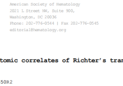 "Blood:慢性淋巴细胞白血病Richter转化的<font color=""red"">基因</font><font color=""red"">组</font>和转录<font color=""red"">组</font>学特征"