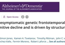 "Alzheimer's Dementia | 淡漠,可提前预测遗传<font color=""red"">性</font>额颞<font color=""red"">叶</font>痴呆者的认知功能衰退"