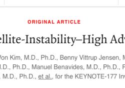 """NEJM:派姆单抗用于治疗微卫星高度<font color=""""red"""">不稳</font><font color=""""red"""">定</font>性晚期结直肠癌"""