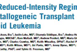 J Clin Oncol:强化调理方案不能改善高危型AML/MDS老年患者allo-HSCT后的预后
