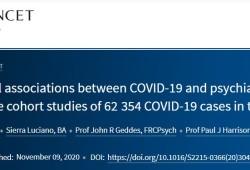 Lancet Psychiatry:COVID-19与精神障碍之间的双向作用