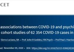 "Lancet Psychiatry:COVID-19与<font color=""red"">精神</font><font color=""red"">障碍</font>之间<font color=""red"">的</font>双向作用"