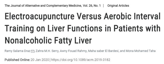 针刺和有氧间歇训练均可有效改善非酒精性脂肪肝患者的肝功能,其中针刺的效果更佳