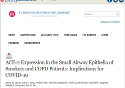 "Eur Respir J:吸烟者和慢性阻塞性肺疾病(<font color=""red"">COPD</font>)患者更易患COVID-19"