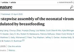 Nature:母乳喂养或有助于预防胃肠道病毒感染