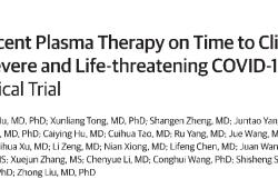 JAMA:首个大样本RCT研究泼了冷水,COVID-19康复者血浆仅对重症且非危重患者有效