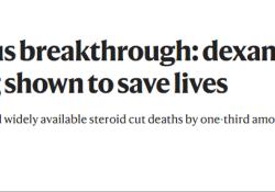 "【Nature】冠状病毒大突破:<font color=""red"">地塞米松</font>,首个可以挽救重症新冠患者生命的药物"