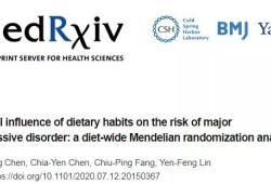medRxiv:中國臺灣研究表明,多吃牛肉和含谷類食物可緩解重度抑郁癥