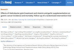 BMJ爆猛料 | 隨訪22年,中國學者發現長期吃大蒜,可降低胃癌死亡率