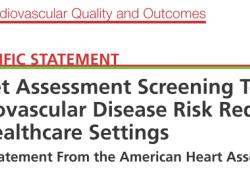 """2020 <font color=""""red"""">AHA</font><font color=""""red"""">科学</font>声明:医疗机构降低心血管疾病的风险快速饮食评估筛查工具"""