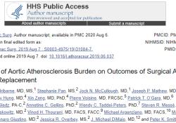 Ann Thorac Surg:主动脉粥样硬化负担对主动脉瓣置换手术结果的影响