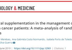 J Oral Pathol Med:口服补充剂可降低癌症患者的口腔黏膜炎发生率及严重性