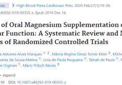High Blood Press Cardiovasc Prev:口服镁补充剂是否可改善血管的内皮功能?