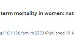 "BMJ:产妇早产导致<font color=""red"">女性</font>死亡的重要风险因素"