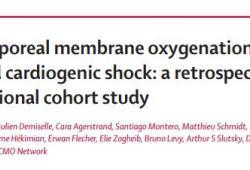 Lancet:ECMO用于膿毒癥心源性休克患者的治療
