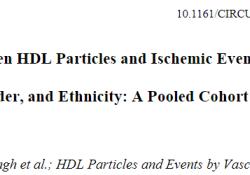 "Circulation:HDL-P与<font color=""red"">缺血</font>性事件的相关<font color=""red"">性</font>分析:大样本、多种族、多器官、不同性别"