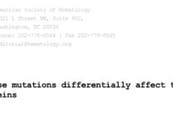 "Blood:GGCX的不同突变对<font color=""red"">维生</font><font color=""red"">素</font>K依赖蛋白的生物学功能的影响不同"