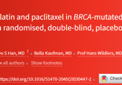 "Lancet oncol:PARP抑制剂veliparib联合卡铂-<font color=""red"">紫杉</font><font color=""red"">醇</font>治疗BRCA突变的晚期乳腺癌的疗效"