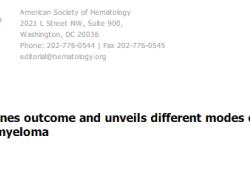 Blood:应以微小残留病灶检测阴性作为高风险多发性骨髓瘤的治疗终点