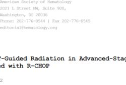 Blood:PET-CT指导性巩固放疗对晚期DLBCL患者长期预后的影响