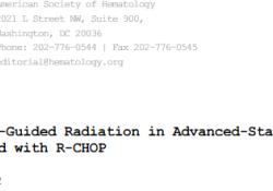 "Blood:PET-<font color=""red"">CT</font>指导性巩固放疗对晚期DLBCL患者长期预后的影响"