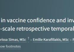 """Lancet:全球<font color=""""red"""">疫苗</font>接种重要性、安全性或有效性(<font color=""""red"""">疫苗</font>信心)认知变化研究"""