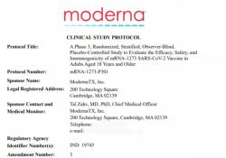 """Moderna公司完整版新冠病毒<font color=""""red"""">mRNA</font><font color=""""red"""">疫苗</font>临床试验设计方案"""