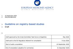 歐盟發布基于患者登記的研究指南草案
