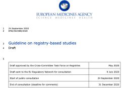 """欧盟发布基于患者<font color=""""red"""">登记</font>的研究指南草案"""
