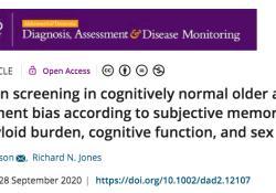 "Alzheimer's & Dementia:认知正常老年人的<font color=""red"">抑郁</font><font color=""red"">症</font>筛查影响因素"