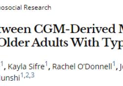 "Diabetes Care:<font color=""red"">CGM</font>衍生指标、A1C与1型糖尿病老年患者低<font color=""red"">血糖</font>风险的关系"