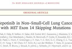 NEJM:Tepotinib治療MET外顯子14跳躍突變非小細胞肺癌II期臨床效果顯著